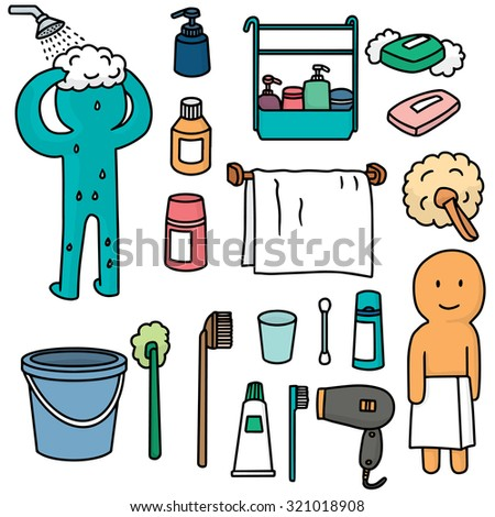 Vector Set Bathroom Equipment Stock Vector Shutterstock