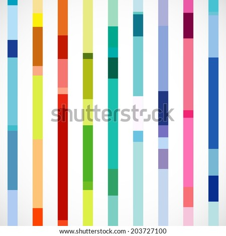 Vector Set of Beautiful Vertical Colorful Bars - stock vector
