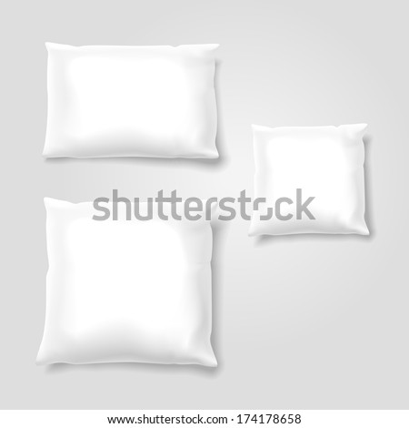 Vector Set of Blank Pillows - stock vector