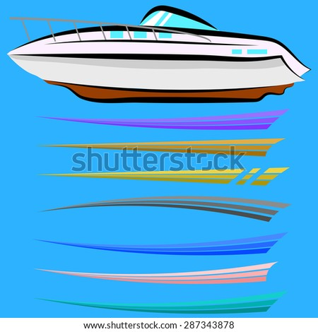 Boat Decal Stock Images RoyaltyFree Images Vectors Shutterstock - Boat decal graphics