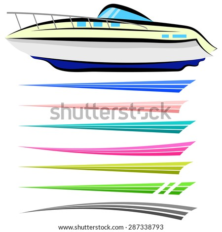 vector set of boat graphics isolated on white background boat graphics designs ideas - Boat Graphics Designs Ideas