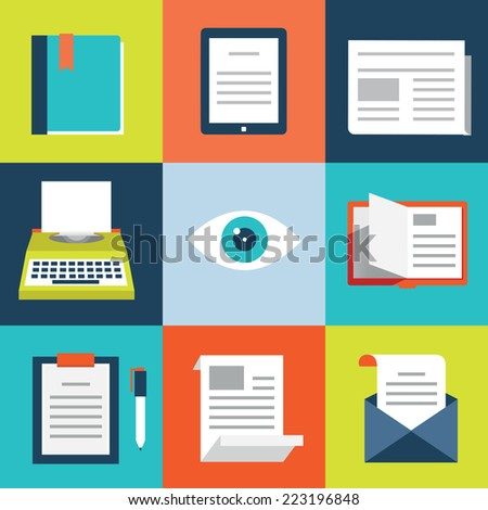 Vector set of books. Books, mobile digital book modern readers -  vector elements - stock vector