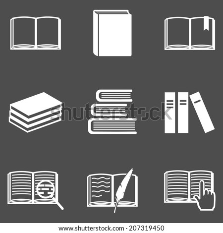 Vector Set of  Books Icons