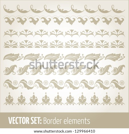 Vector set of border elements and page decoration Set #4