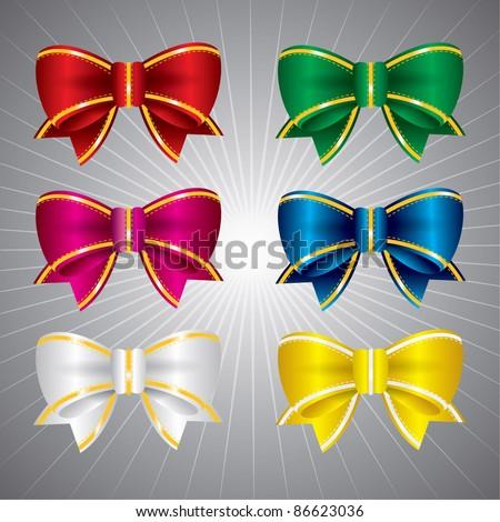 Vector set of bow ties - stock vector