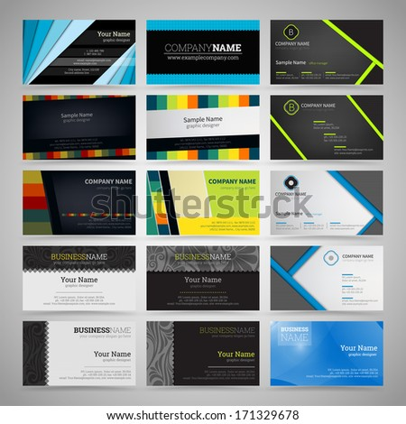 Vector set of business cards - stock vector