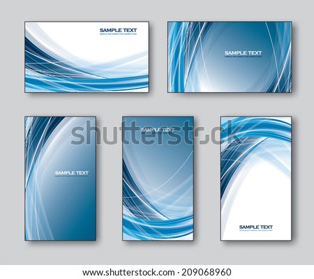 Vector Set of Business Cards or Gift Cards. - stock vector
