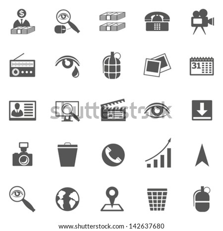 Vector set of business icons, symbols and pictograms - stock vector