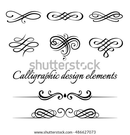 Calligraphy Design Elements Stock Images, Royalty-Free Images ...