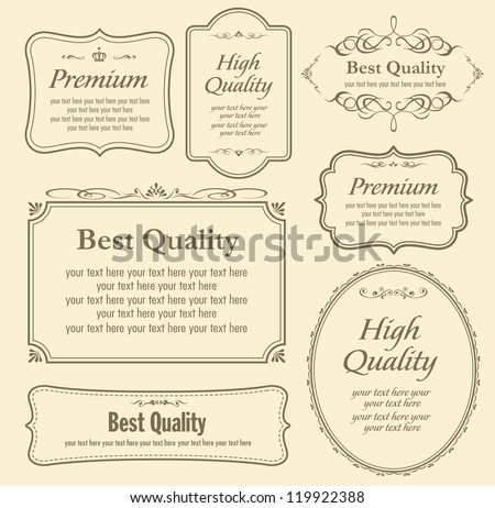Vector set of calligraphy - stock vector