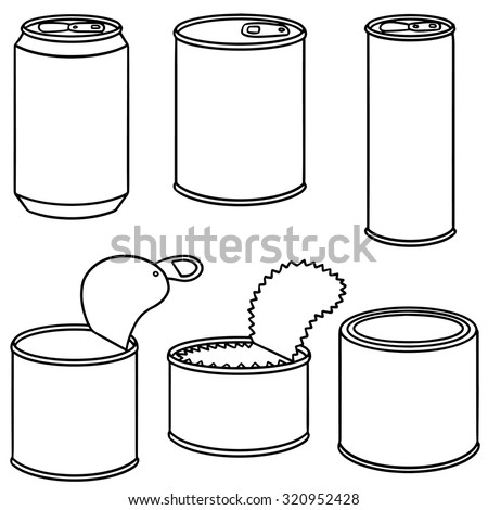 vector set of can - stock vector