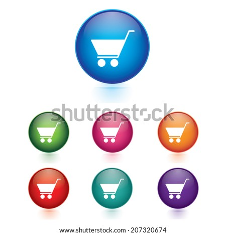 Vector - Set of cart icons