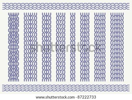 Vector set of celtic pattern. Decorative border ornaments - stock vector