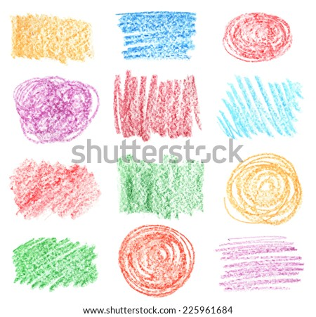 vector set of  chalk hand draw bubbles