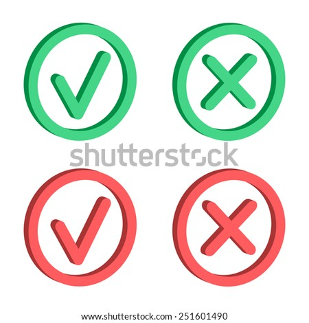 Vector set of check marks Icons. Vector illustration.