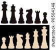 vector set of chess pieces - stock vector