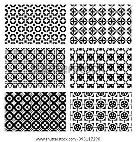 Vector set of circular patterns