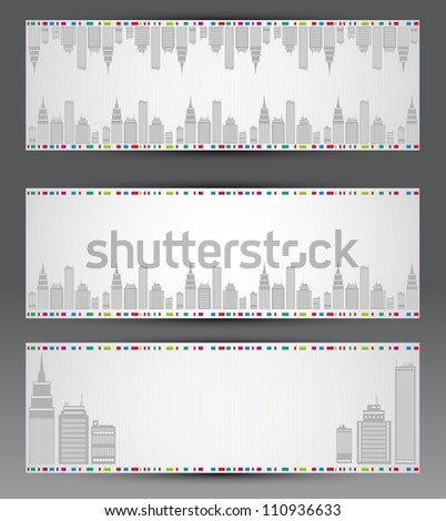 Vector set of city banners
