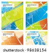 vector set of color background - stock photo
