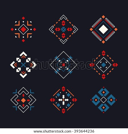 Vector set colored tribal symbols perfect stock vector royalty free vector set of colored tribal symbols perfect for invitations and greeting cards decoration vector stopboris Images