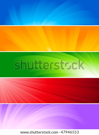 Vector set of colorful banners; clip-art - stock vector