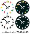 vector set of colorful clocks - stock vector
