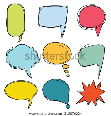 vector set of colorful speech bubbles - stock vector