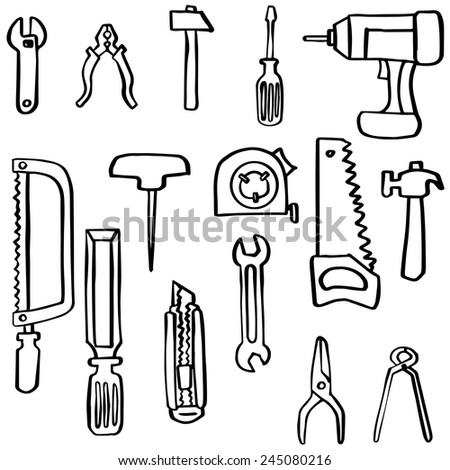 Vector set construction icon stock vector royalty free for Draw tool free
