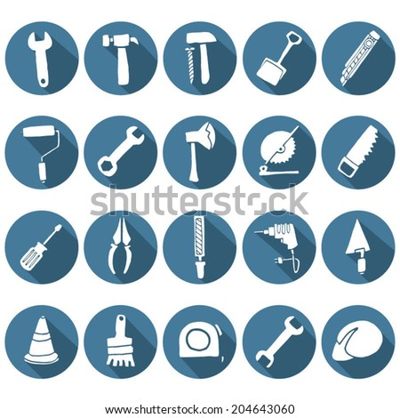 Vector set of Construction Icons - stock vector