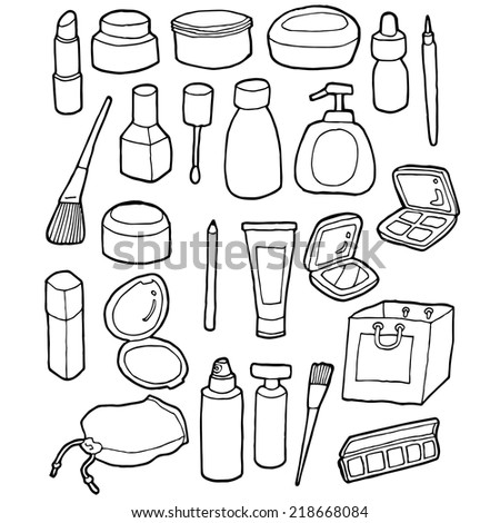 vector set of cosmetic - stock vector