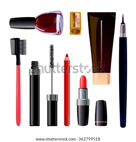 vector set of cosmetics, beauty products