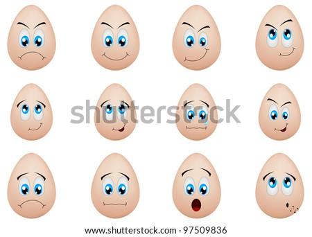 funny eggs emotion mood - photo #30