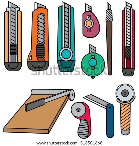 vector set of cutters - stock vector