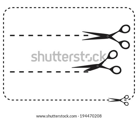 Vector set of cutting scissors - Illustration EPS-10 - stock vector