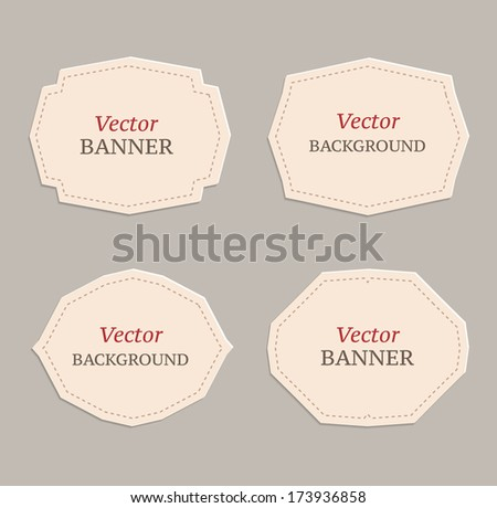 Vector set of decorative banner for your design