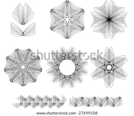 Vector set of decorative elements. - stock vector