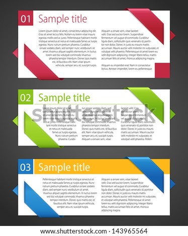 Vector set of design elements. - stock vector