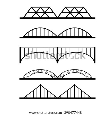 Vector set of different bridges connection