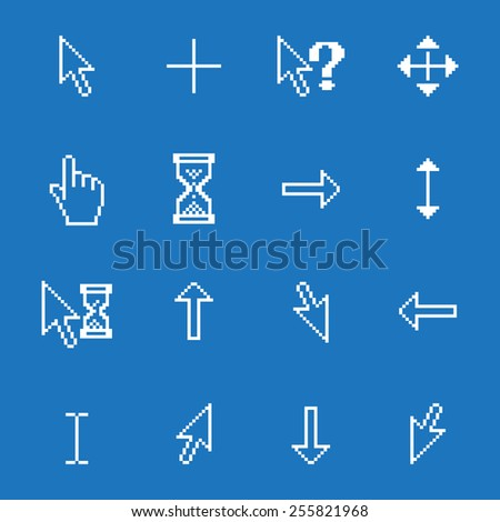 Vector set of different mouse cursors, excellent vector illustration, EPS 10 - stock vector