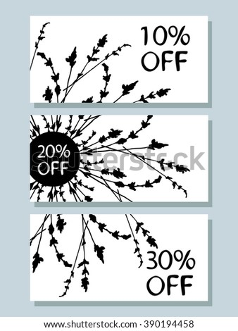 Vector set of discounts for your design