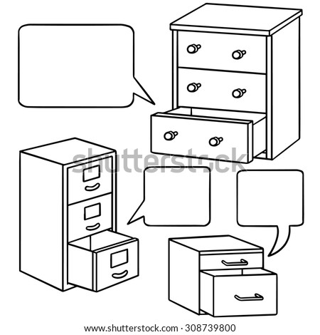 vector set of drawer - stock vector