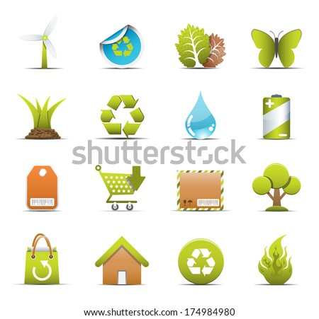 Vector set of Eco icons.