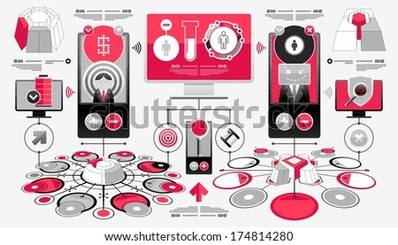 vector set of elements - stock vector