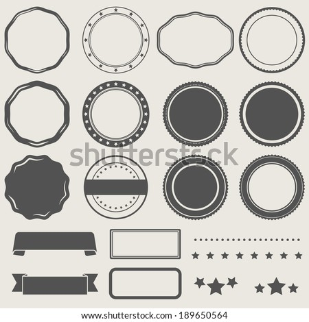 Vector set of empty stamps  - stock vector