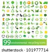 Vector set of environmental / recycling icons - stock photo