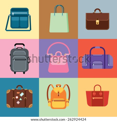 Vector set of flat bags
