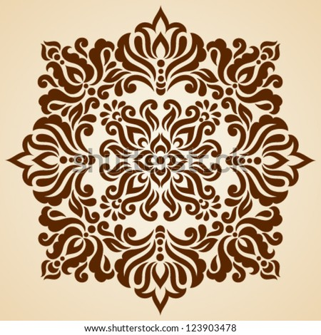 Vector set of floral elements. Ornamental pattern for frames and borders. - stock vector