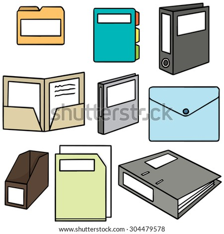 vector set of folder - stock vector