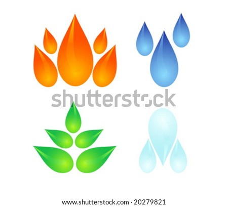 vector set of four elements - stock vector