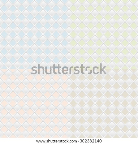 Vector set of four seamless patterns. Repeating geometric tiles.  - stock vector